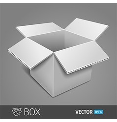 Gray cardboard box EPS 10 vector image
