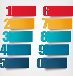 Info graphics banners with numbers and vector image vector image