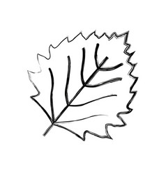 Leaf nature plant simple cartoon flat style vector