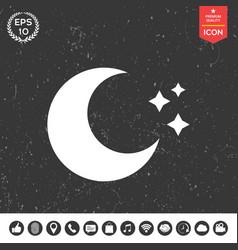 moon stars icon vector image vector image