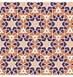 Mosaic orange purple stars repetition vector
