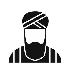 Muslim man simple icon vector
