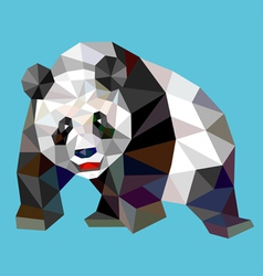 Pand low polygon vector