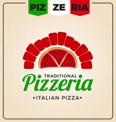 Pizzeria logo template design vector