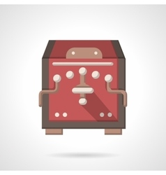Red coffee equipment flat color icon vector image vector image