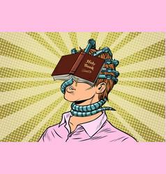Religious fanatic man vector