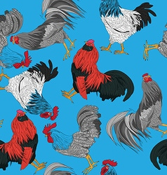 Roosters pattern vector