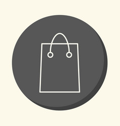 Shopping bag for shopping round icon with vector