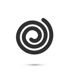 spiral icon flat black sign on a white background vector image