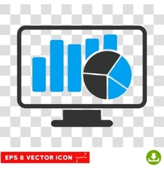 Statistics monitoring eps icon vector