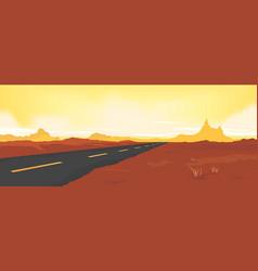 summer desert road vector image vector image