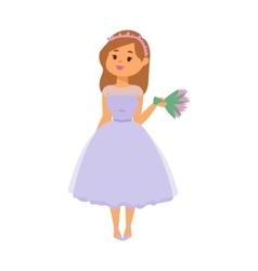 Wedding bride girl character vector image