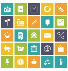 icons plain tablet business office vector image