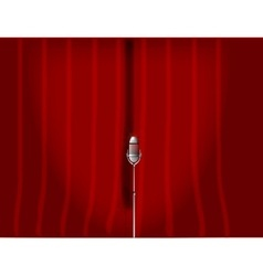 Red stage curtain vector