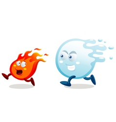 Water and fire vector