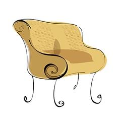 A sofa vector image