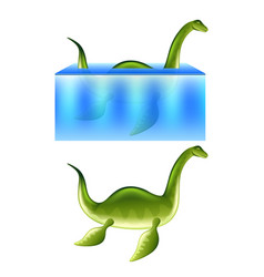 nessie loch ness monster isolated vector image