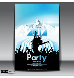 Mountain party flyer vector