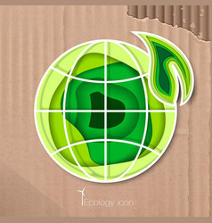 Icon preserving the purity of the planet vector