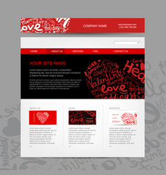 Website design template for dating site vector