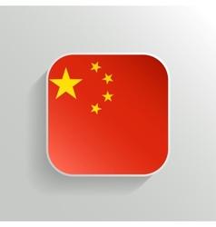 Button - china flag icon vector