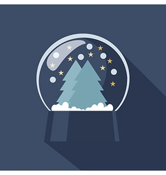 Snow globe icon vector