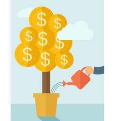 Growing money plant vector