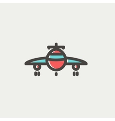 Airplane thin line icon vector