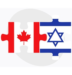Canada and israel flags vector