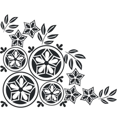 Ornament in black 05 vector