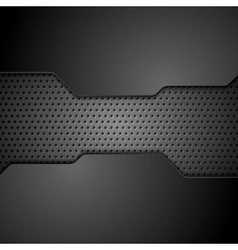 Metal perforated texture technology background vector