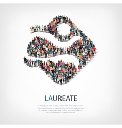 Laureate people sign vector