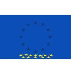 Flag of the european union vector