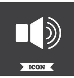 Speaker volume sign icon sound symbol vector
