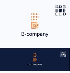B company logo vector