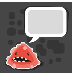 Background with little angry virus or monster vector
