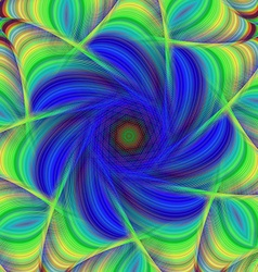 Blue and green abstract fractal background vector
