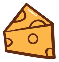 Cheese cartoon vector