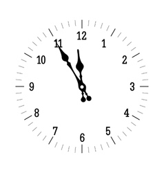 Christmas old clock vector