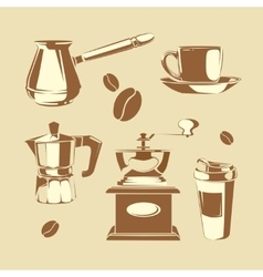 Coffee making equipment vector