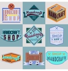 Color retro design insignias logotypes set vector