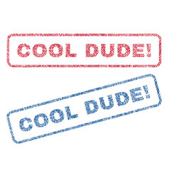 Cool dude exclamation textile stamps vector