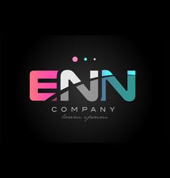 enn e n n three letter logo icon design vector image