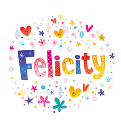 Felicity girls name vector
