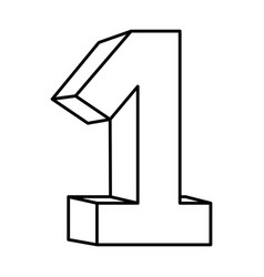 Figure number one icon vector