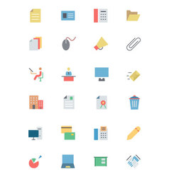 Flat Office Icons 2 vector image