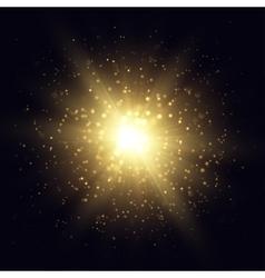 Golden star explosion vector