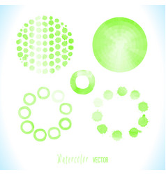 green watercolor circle vector image vector image