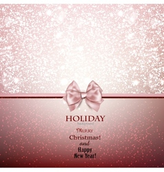 Greeting card with bow and copy space vector image vector image