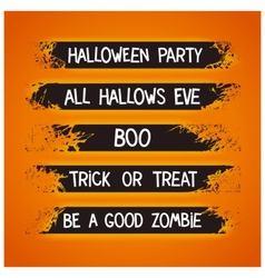Halloween themed graffiti ribbons vector